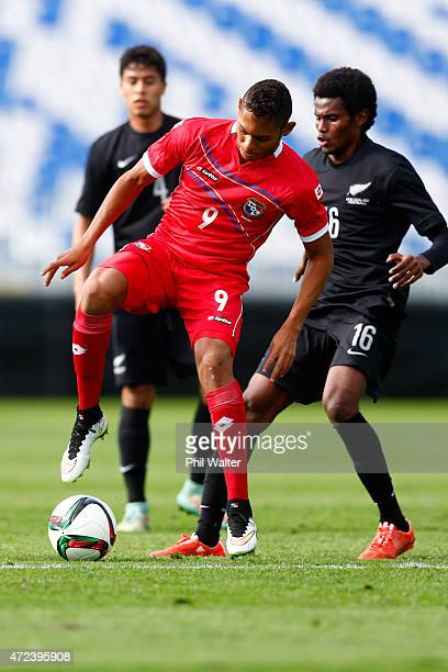 Ismael Diaz of Panama controls the ball during the U20 Five Nations match between New Zealand and Panama at QBE Stadium on May 7 2015 in Auckland New...