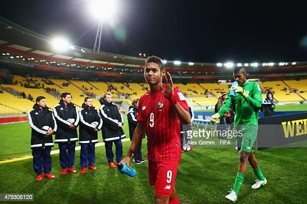 Ismael Diaz of Panama waves after the FIFA U20 World Cup New Zealand 2015 Group B match between Argentina and Panama at Wellington Regional Stadium...