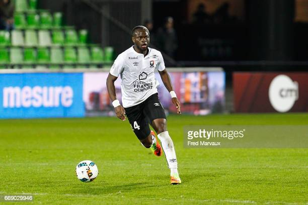Ismael Diomande of Caen during the Ligue 1 match between Fc Metz and SM Caen at Stade SaintSymphorien on April 15 2017 in Metz France