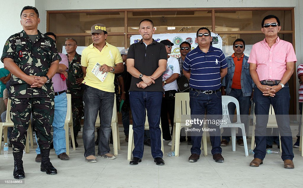 Ismael Mangudadatu, governor in the southern Philippine province of Maguindanao (c), is seen during his first visit on September 19, 2012 in Datu Hoffer. The town is named after late Hoffer Ampatuan, one of the sons of Andal Ampatuan Sr. who was killed in shootout. Ampatuan Sr. is the alleged mastermind in the world's worst political mass murders on November 23, 2009 where Mangudadatu's wife, relatives and 30 journalists were massacred.