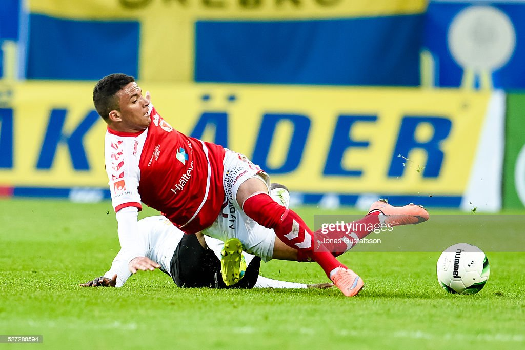 Ismael Silva Lima of Kalmar FF competes for the ball during the Allsvenskan match between Kalmar FF and Orebro SK at Guldfageln Arena on May 2, 2016 in Kalmar, Sweden.