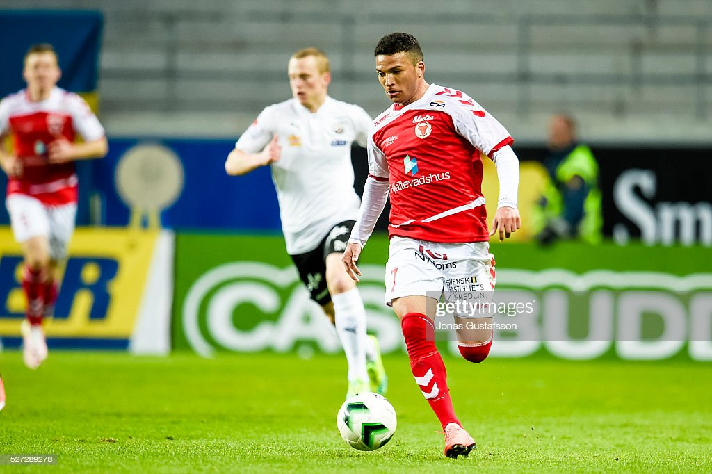 Ismael Silva Lima of Kalmar FF during the Allsvenskan match between Kalmar FF and Orebro SK at Guldfageln Arena on May 2, 2016 in Kalmar, Sweden.
