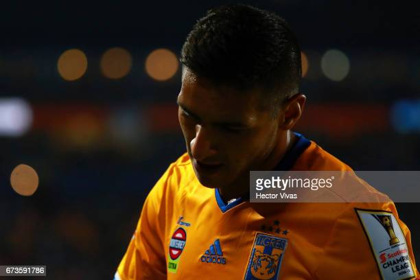 Ismael Sosa of Tigres gestures during the Final second leg match between Pachuca and Tigres UANL as part of the CONCACAF Champions League 2016/17 at...