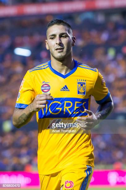 Ismael Sosa of Tigres looks on during the 3rd round match between Tigres UANL and Puebla as part of the Torneo Apertura 2017 Liga MX at Universitario...