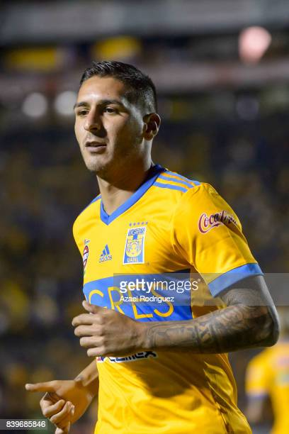 Ismael Sosa of Tigres looks on during the seventh round match between Tigres UANL and Lobos BUAP as part of the Torneo Apertura 2017 Liga MX at...