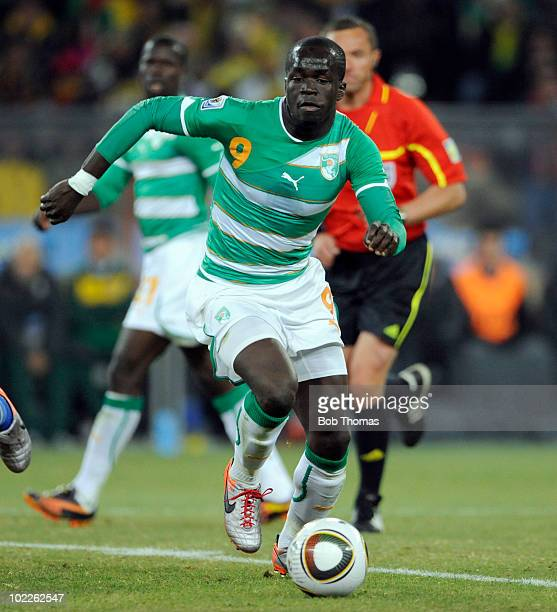 Ismael Tiote of the Ivory Coast during the 2010 FIFA World Cup South Africa Group G match between Brazil and Ivory Coast at Soccer City Stadium on...