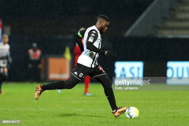 Ismael Traore of Angers during the Ligue 1 match between Angers SCO and Montpellier Herault SC at Stade Raymond Kopa on December 9 2017 in Angers