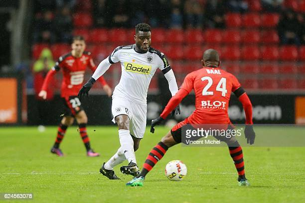 Ismael Traore of Angers during the Ligue 1 match between Stade Rennais and Sco Angers at Stade de la Route de Lorient on November 19 2016 in Rennes...