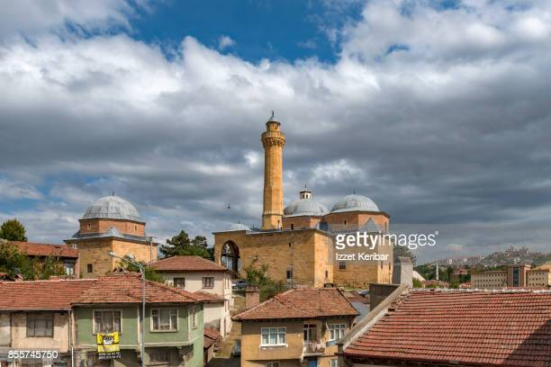 Ismail Bey mosque surrounded by old wooden houses, at Kastamonu Turkey