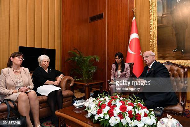Ismail Kahraman Speaker of the Grand National Assembly of Turkey meets Marina Kaljurand Chair of the Committee of Ministers of Council of Europe in...