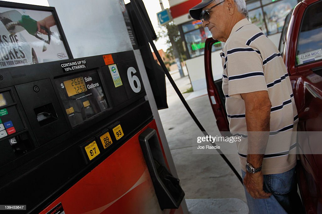 Ismail Roeg fills his vehicle up with gas in a county where some grades of gasoline have already surpassed the $4 mark on February 21, 2012 in Miami, Florida. Fears of $5 per gallon gasoline are being heard as summer approaches and some feel that would hurt the economy just as an economic recovery appears to be getting traction.