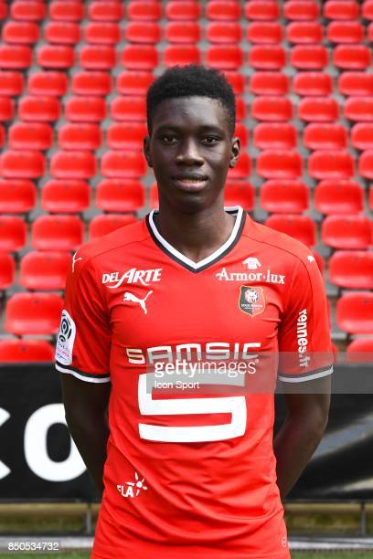 Ismaila Sarr during photoshooting of Stade Rennais for new season 2017/2018 on September 19 2017 in Rennes France