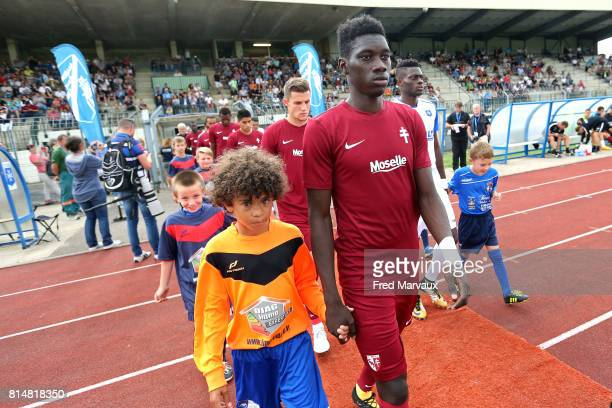 Ismaila Sarr of Metz during the friendly match between Fc Metz and AJ Auxerre on July 14 2017 in StDizier France