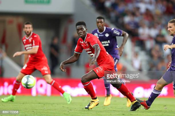 Ismaila Sarr of Rennes during the Ligue 1 match between Toulouse and Stade Rennais at Stadium Municipal on August 26 2017 in Toulouse