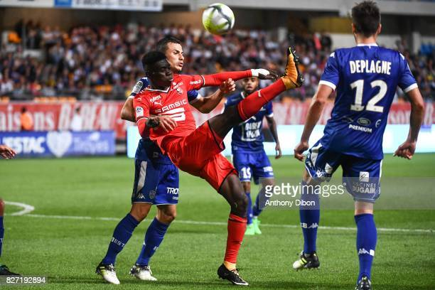 Ismaila Sarr of Rennes during the Ligue 1 match between Troyes AC and Stade Rennais at Stade de l'Aube on August 5 2017 in Troyes