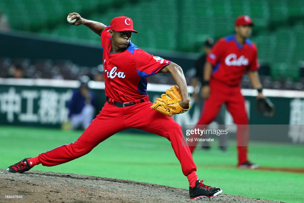 Ismel Jimenez #23 of Cuba in action during the World Baseball Classic First Round Group A game between Brazil and Cuba at Fukuoka Yahoo! Japan Dome on March 3, 2013 in Fukuoka, Japan.