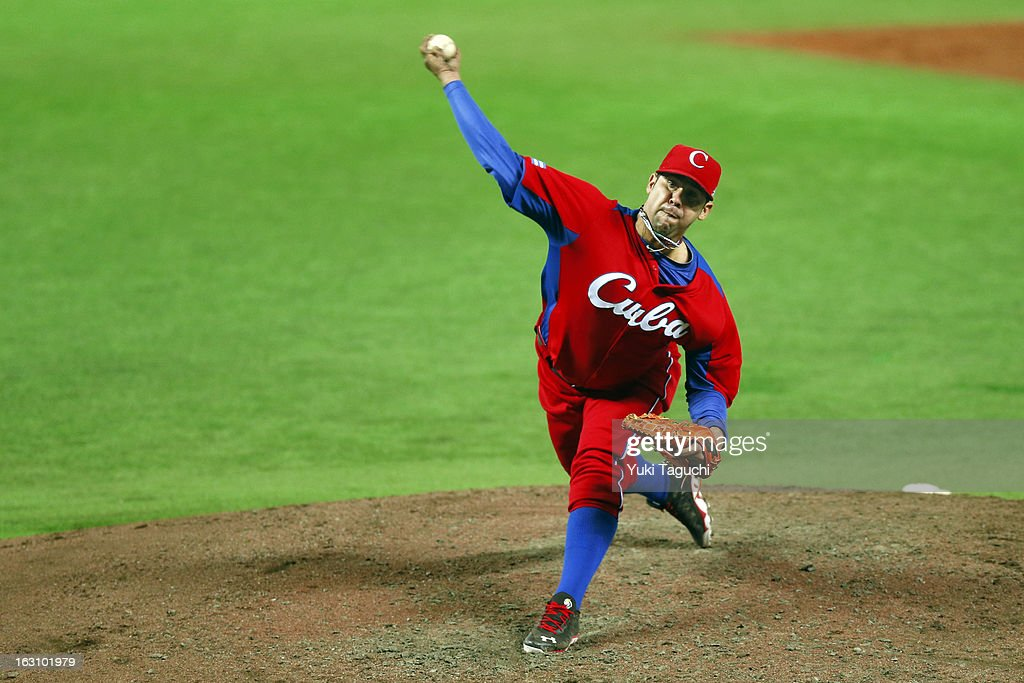 Ismel Jimenez #23 of Team Cuba pitches during Pool A, Game 2 between Team Cuba and Team Brazil during the first round of the 2013 World Baseball Classic at the Fukuoka Yahoo! Japan Dome on Sunday, March 3, 2013 in Fukuoka, Japan.