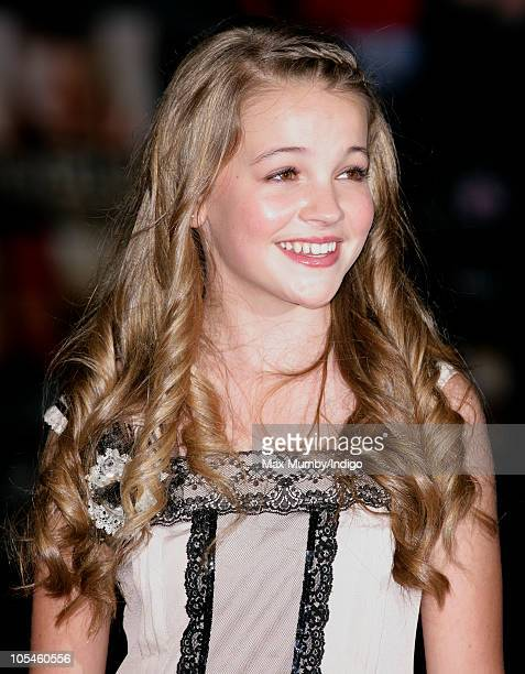 Isobel Meikle Small attends the 'Never Let Me Go' premiere during the Opening Night of the 54th BFI London Film Festival at the Odeon Leicester...