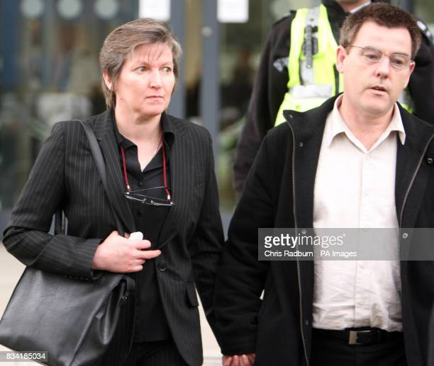 Isobella Clennell mother of murdered prostitute Paula Clennell with her partner Andy Knotts leave Ipswich Crown Court after the sentencing of Steve...