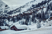 Winter in the french alps