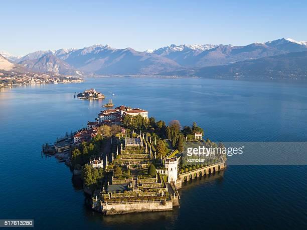 Isola Bella sul lago Maggiore di uccello vista