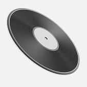3d rendered vinyl record on a seamless reflective white surface for easy compositing.