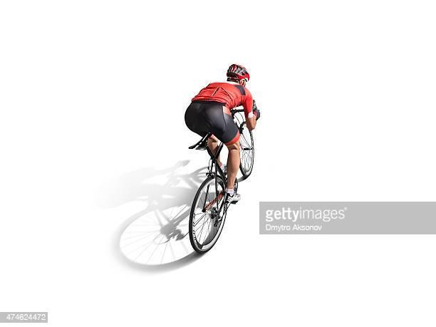 Atleta los ciclistas aislado