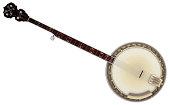 Instrumento musical tradicional en la música popular norteamericana sobre fondo blanco.