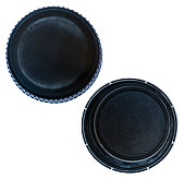Isolated Black Plastic Cap