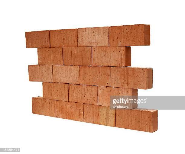 Isolated brick wall