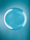 Isolated bubble on blue