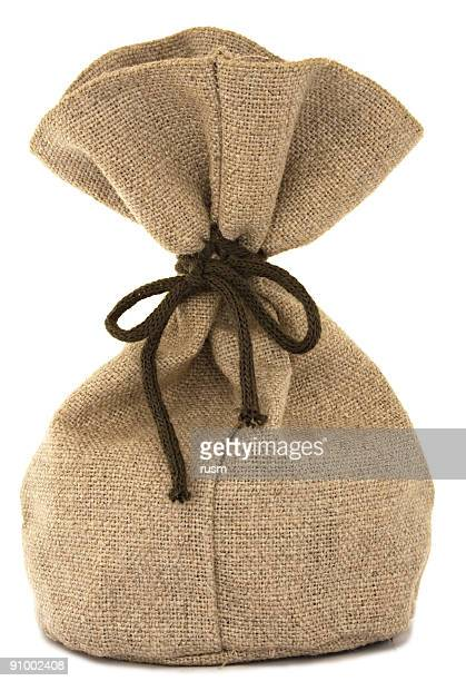 Isolated burlap bag on white background