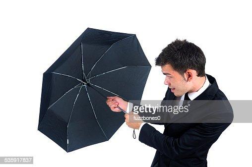 Un hombre de negocios aislado : Foto de stock