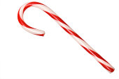 Isolated Candy Cane with clipping path