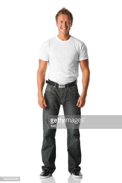 Isolated casual man