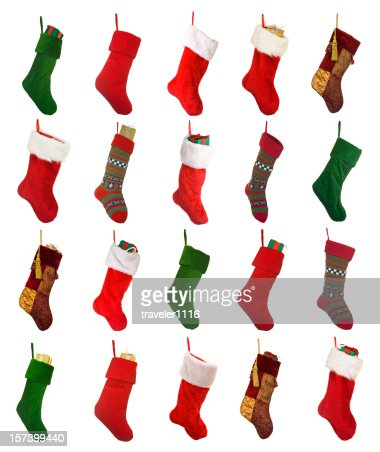 Isolated Christmas Stockings