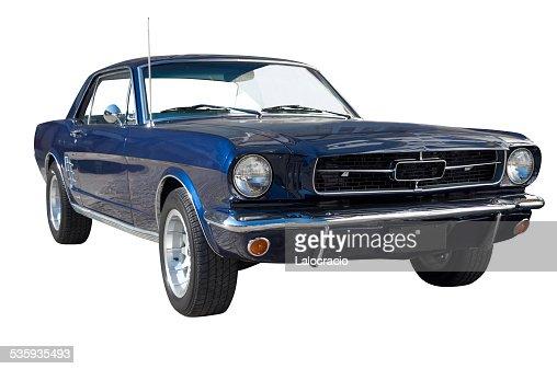 Isolated classic car. : Stock Photo