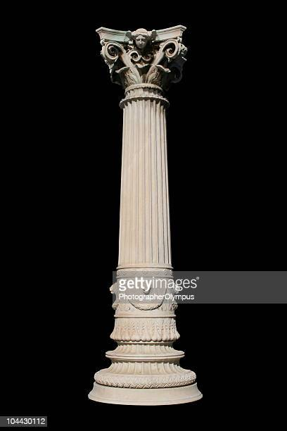 Isolated column on black