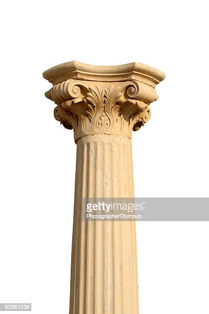 Isolated column on white