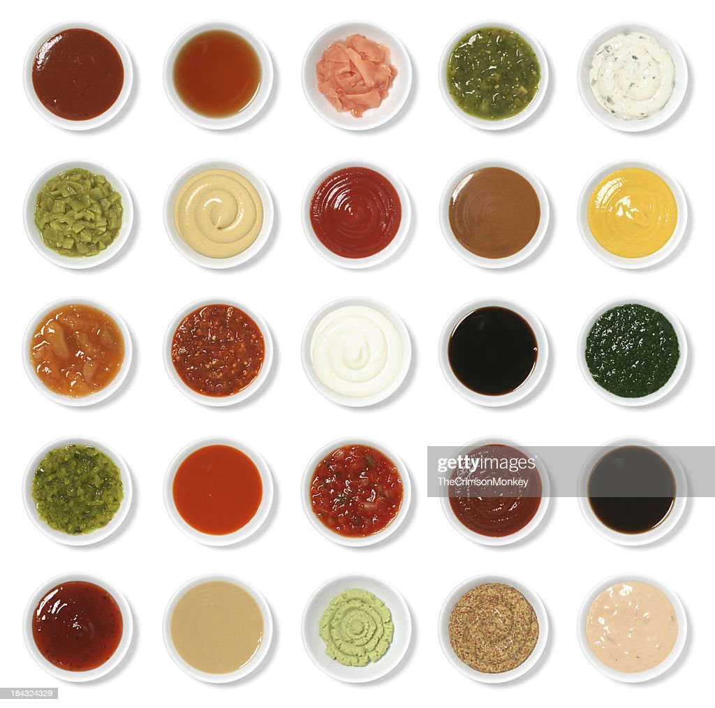 Isolated Condiment Collection Assortment : Stock Photo