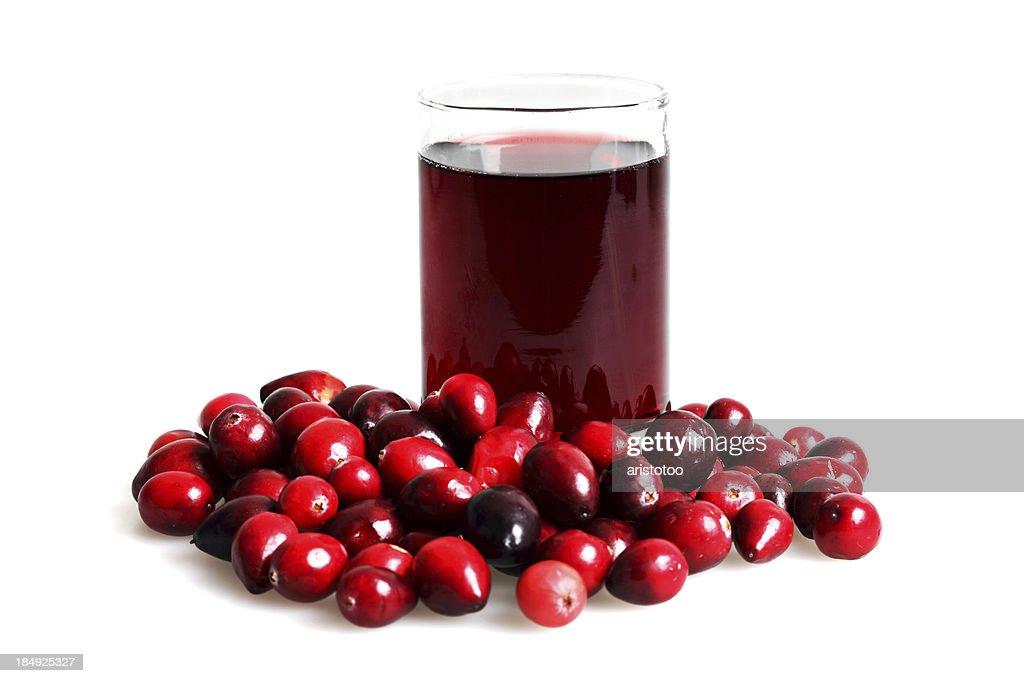 Isolated Cranberry Juice