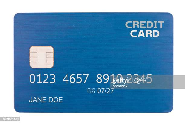 Isolated Credit Card With Chip