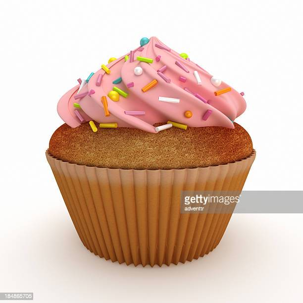 Isolated cupcake