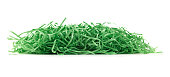 Green Easter paper, grass on white.