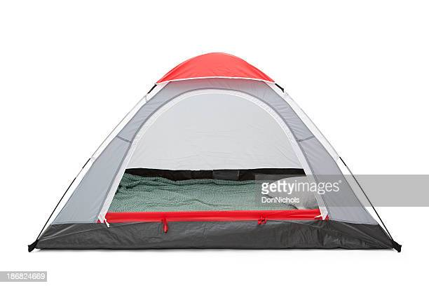 Isolated Empty Tent