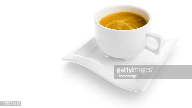 Isolated espresso cup [clipping path]