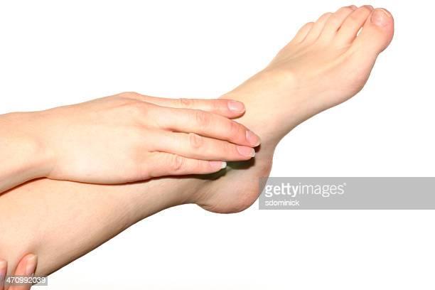 Isolierte Fuß und Hand