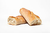 Isolated french baguette