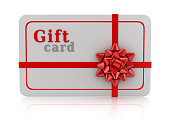 Isolated Gift Card , This is a 3d rendered computer generated image. Isolated on white.