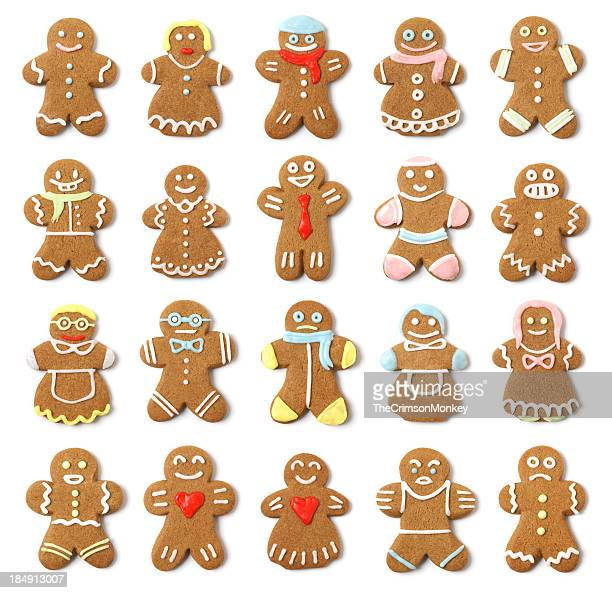 Isolierte Gingerbread Personen Collection Angebot
